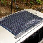 RV solar panel on roof