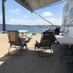 San Diego RV parks - view of the beach from Campland