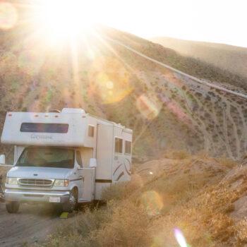 Weekend RV camping trip