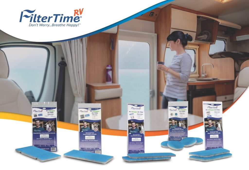 Woman in RV is highlighted by FilterTime RV Air Filters