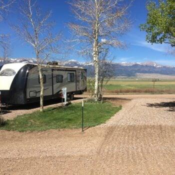 RV at Grape Creek RV Park in Colorado