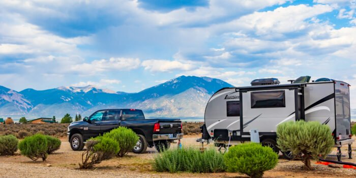 travel trailer in campsite - travel trailer advice for newbies