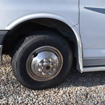 closeup of RV tire pressure monitoring system