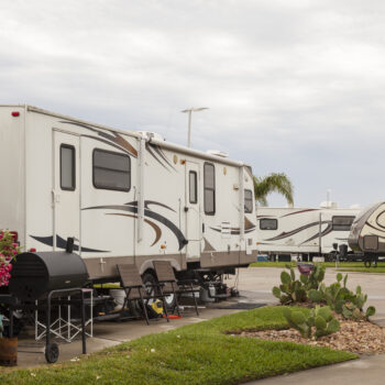 RV at campsite - Can you refinance an RV?