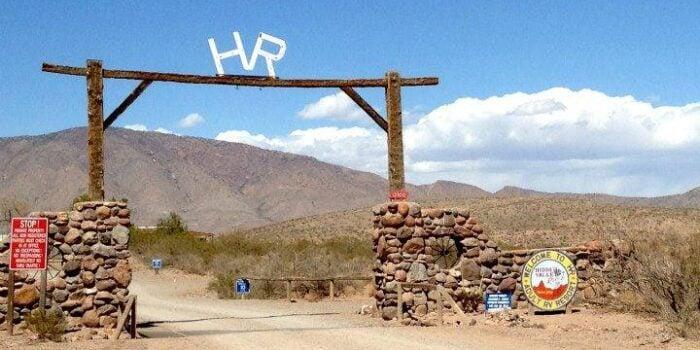 entrance gate to Hidden Valley Ranch RV Resort