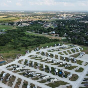 aerial view camping in Abilene