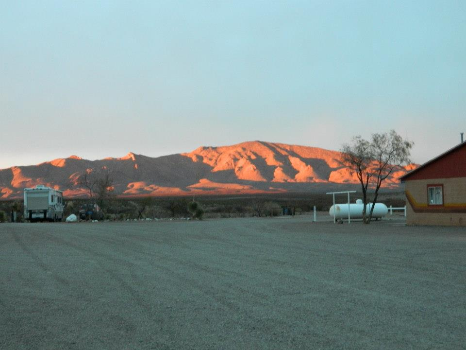 mountain at the distance of Hidden Valley Ranch Resort