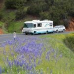 motorhome driving and pulling a tow vehicle - RV driving tips