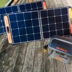 solar panels and Jackery solar generator