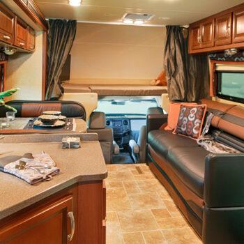 RV interior with RV upgrades